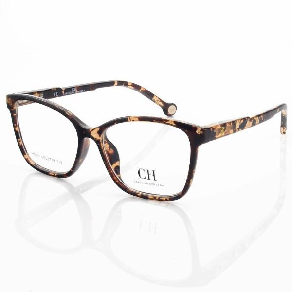 Armação de Óculos Quadrado Carolina Herrera VHE801 Tartaruga Claro