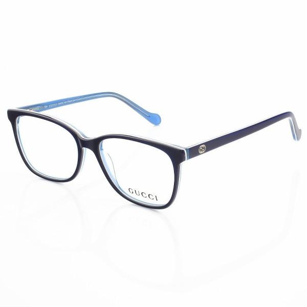 Armação de Óculos Quadrada Gucci GG103 Azul