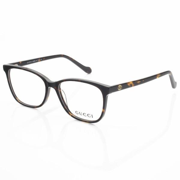 Armação de Óculos Quadrada Gucci GG103 Marrom Tartaruga