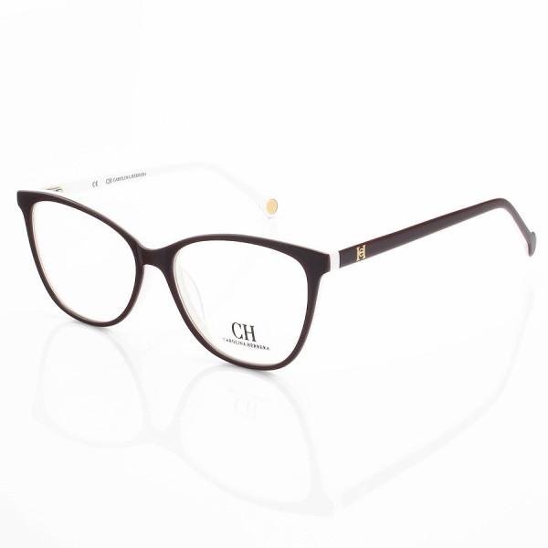 Armação de Óculos Quadrada Carolina Herrera CH683 Vinho e Branca
