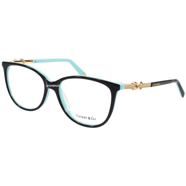 Armação de Óculos Oval Tiffany & Co TF2143 Preto e Azul
