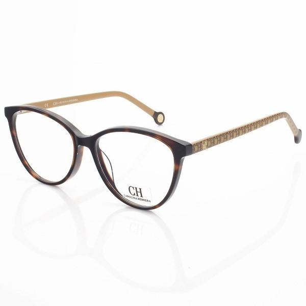 Armação de Óculos Gatinho Carolina Herrera VHE772 Tartaruga e Mel