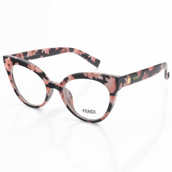 Armacao de Óculos Gatinho Fendi FF2017 Floral