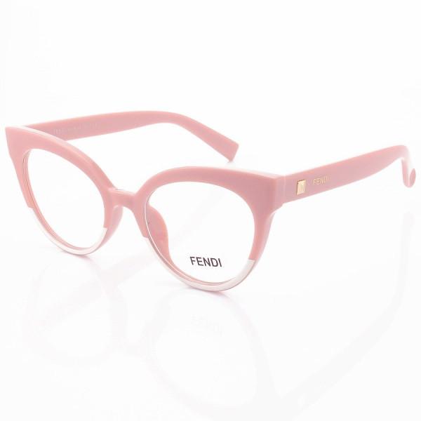 Armacao de Óculos Gatinho Fendi FF2017 Rosa e Branco