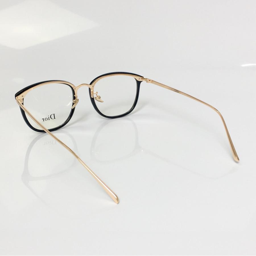 Armacao de Óculos Feminina Dior RM2002-1 CD  - Preto e Dourado