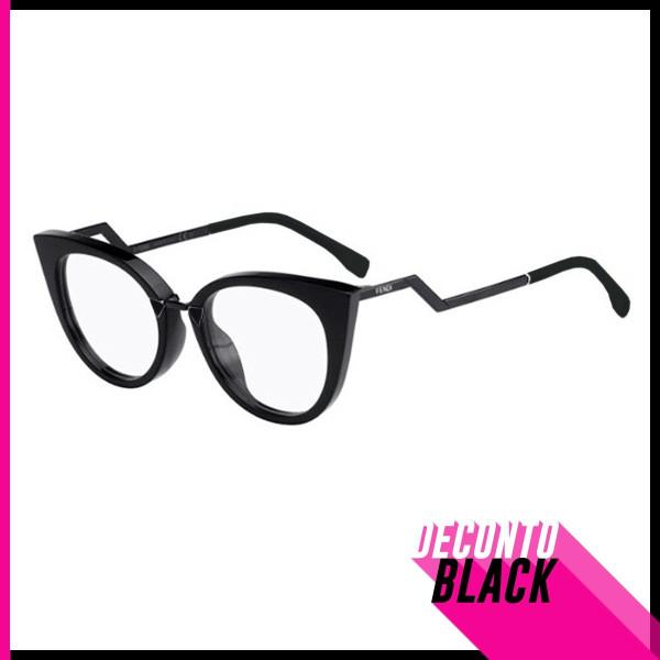 Óculos Armação de Grau - FENDI Orchidea FF 0118 - Todo preto