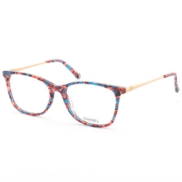 Armação de Óculos Quadrada Chanel CH6822 Colorido