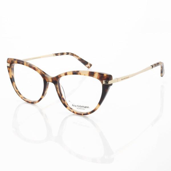 Armação de Óculos Gatinho Ana Hickmann AH6368 Rosa Tartaruga