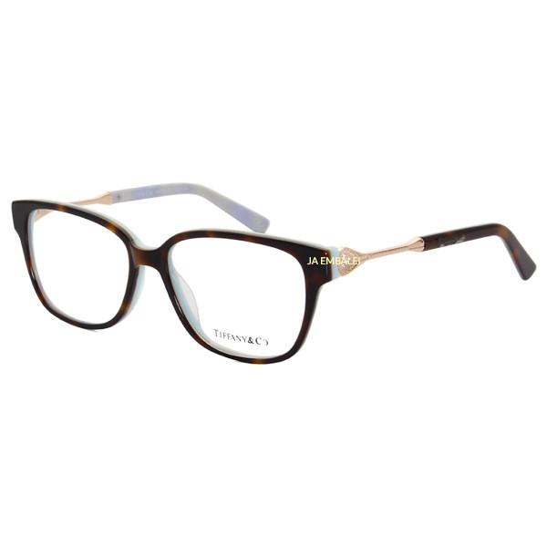 Armação de Óculos Retangular Tiffany & Co. TF2324 Tartaruga e Verde