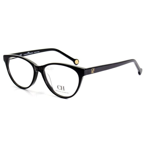 Óculos Armação de Grau - Carolina Herrera Gatinho VHE677 Preto