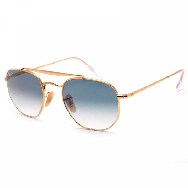 Oculos Ray-Ban Hexagonal Marshal -  Dourado e Azul Degrade RB3648