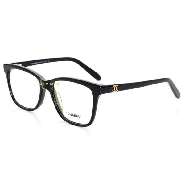 Armação de Óculos Quadrada Chanel X3272 Preto
