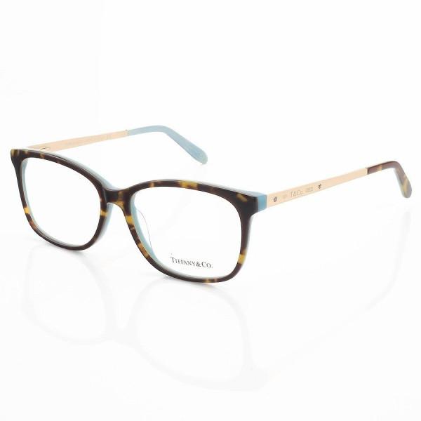 Armação de Óculos Retangular Tiffany & Co. TF2131 Tartaruga e Verde
