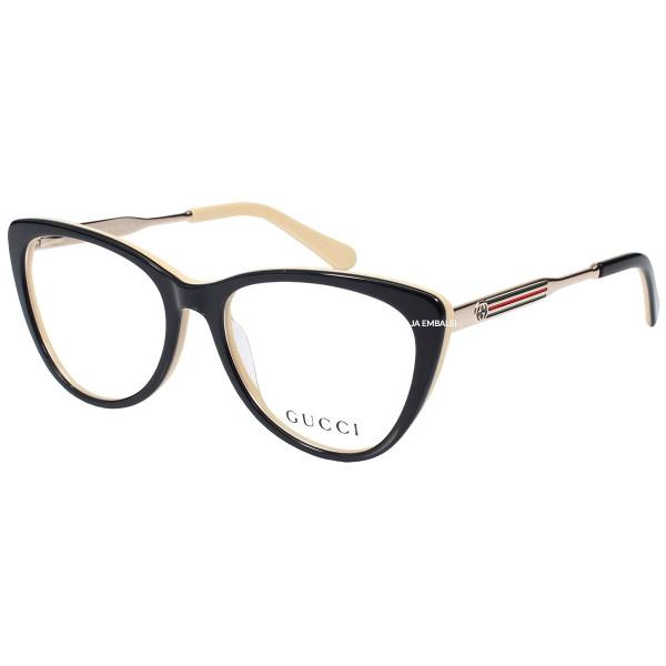 Óculos Armação de Grau - Gucci GG3126 - Preto e Creme