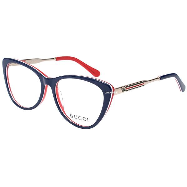 Óculos Armação de Grau - Gucci GG3126 - Azul e Vermelho