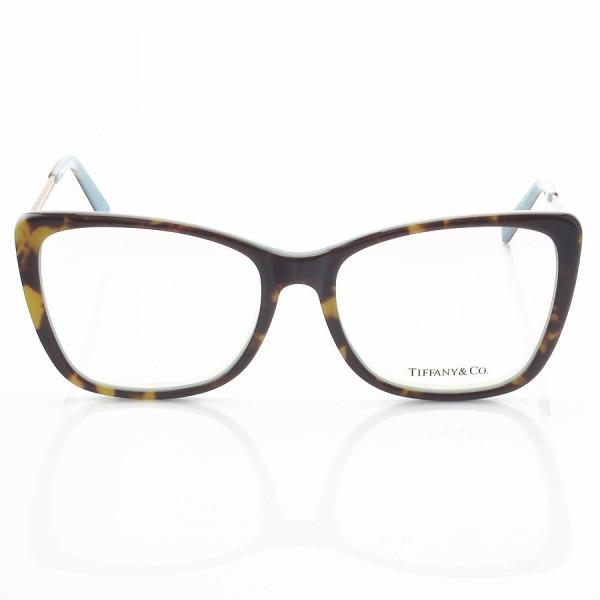 Armação de Óculos Quadrada Tiffany TF2162 Tartaruga e Azul