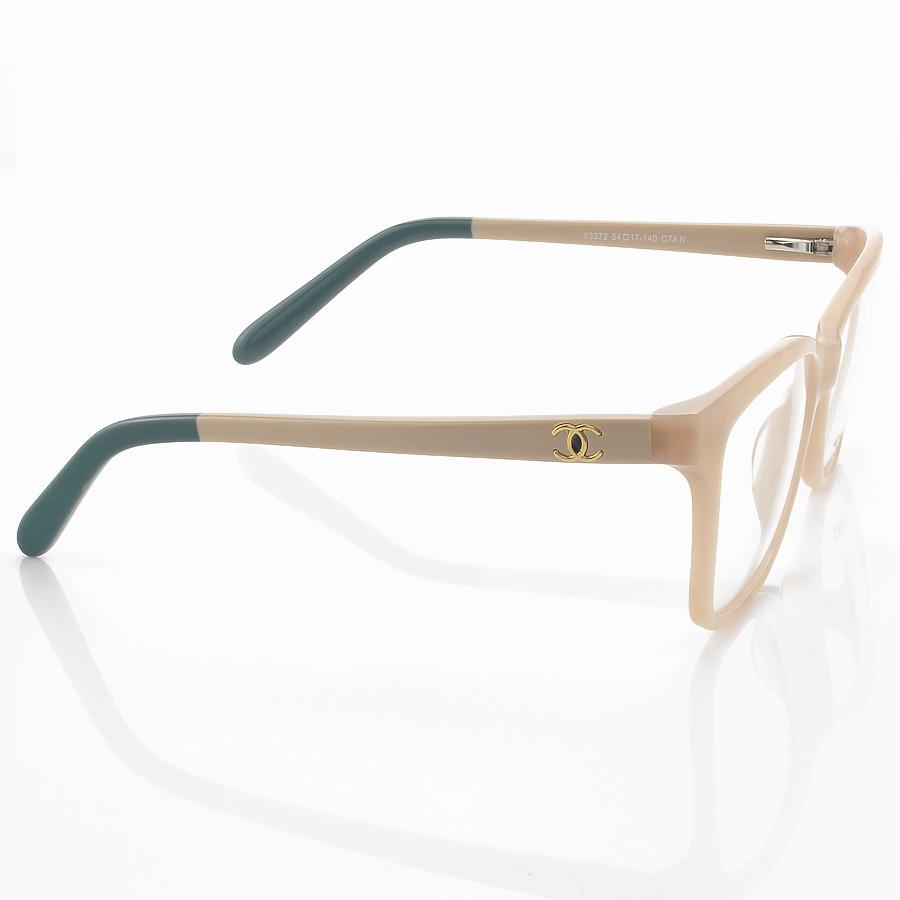 Armação de Óculos Quadrado Chanel X3272 Creme Mesclado