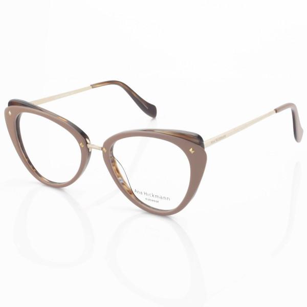 Armação de Óculos Gatinho Ana Hickmann AH6326 Nude