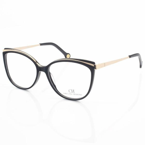 Armação de Óculos Gatinho Carolina Herrera CH3378 Alita Preto