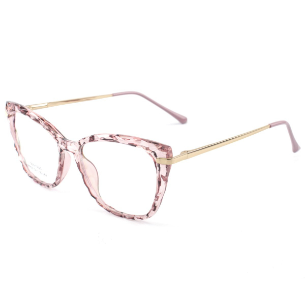 Armação de Óculos Quadrado Ohana 68258 Rosa Translúcido