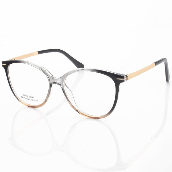 Armação de Óculos Redonda Venuch 68123 Cinza Degrade