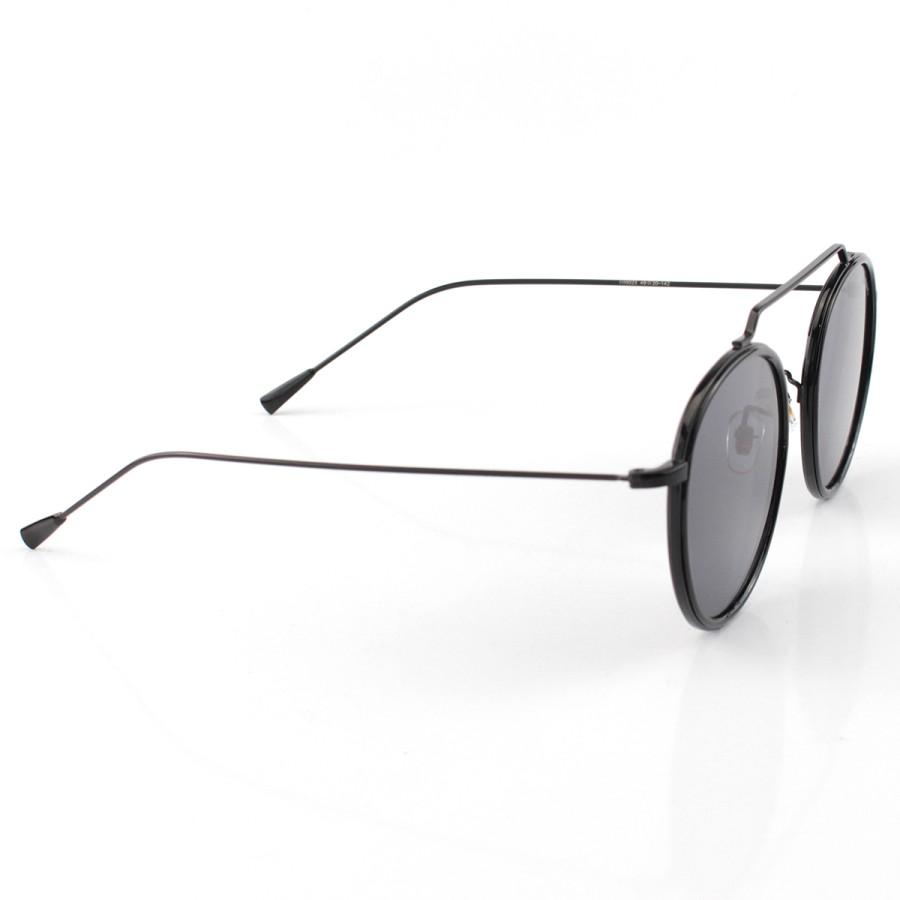 Óculos de Sol Redondo Retrô Vintage WYNWOOD ACE Prisma Preto