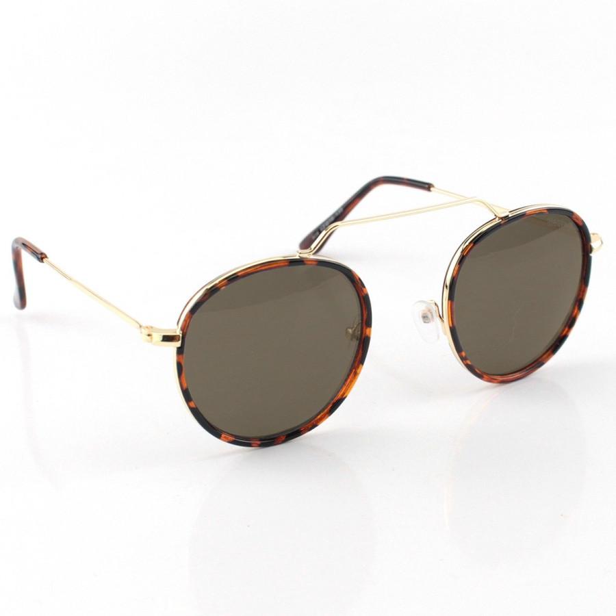 Óculos de Sol Redondo Retrô Vintage WYNWOOD ACE Prisma Tartaruga