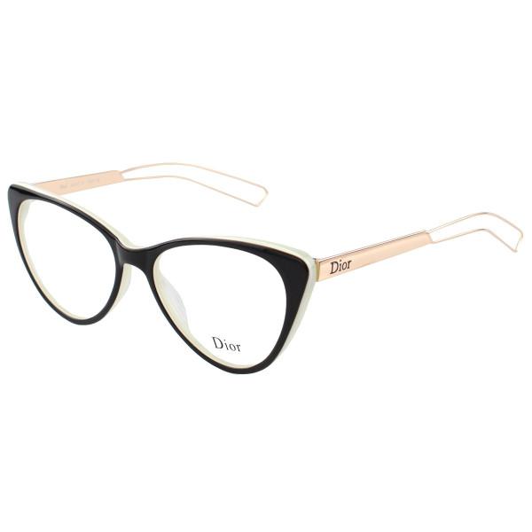 Armação de Oculos - Dior Gatinho  CD 80633 - Preto Green