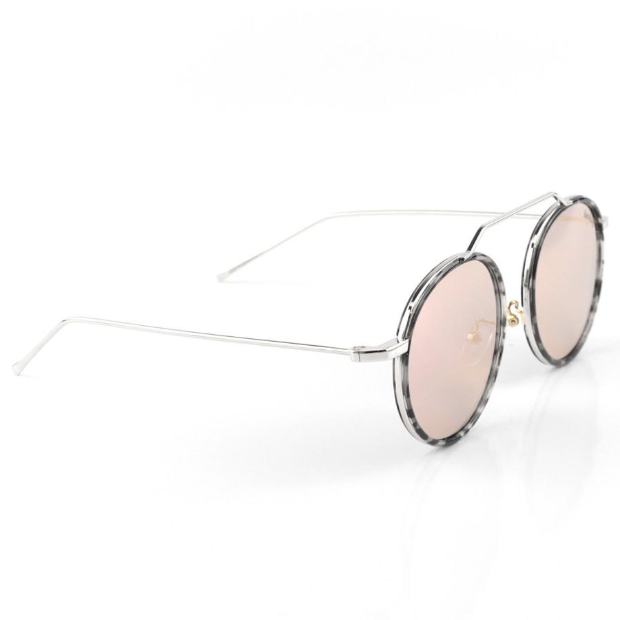 Óculos de Sol Redondo Retrô Vintage WYNWOOD ACE Prisma Roxo