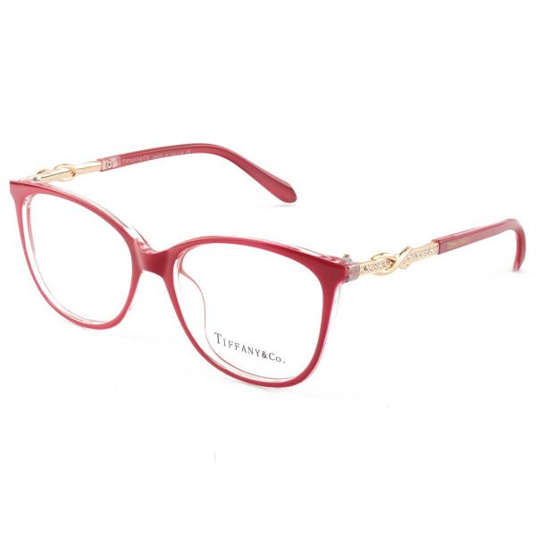 Armação de Óculos Oval Tiffany & Co TF2143 Vermelho