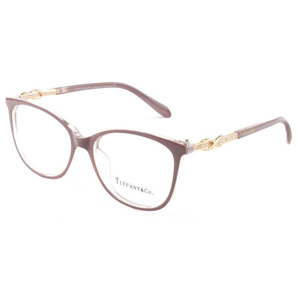 Armação de Óculos Oval Tiffany & Co TF2143 Lilás Nude