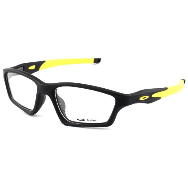 Armacao de Óculos Oakley Crosslink OX8031 Preta e Amarelo