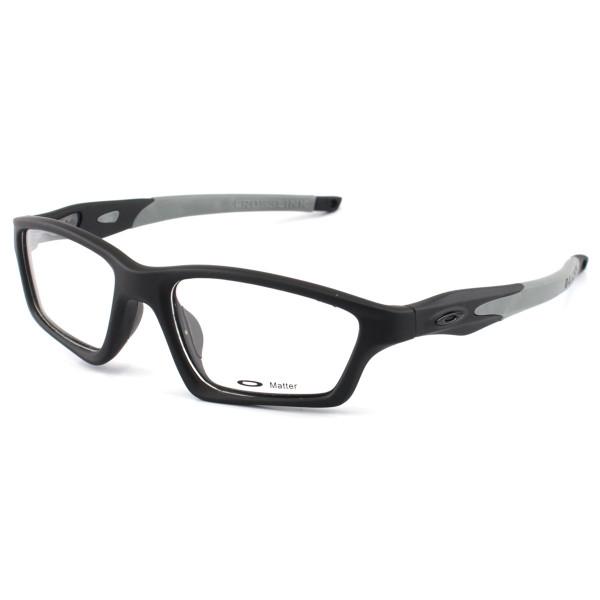 Armacao de Óculos Oakley Crosslink OX8031 Preta e Cinza