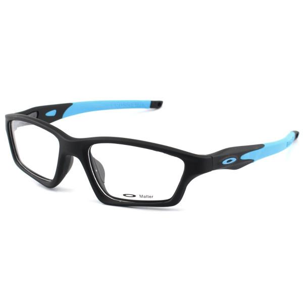 Armacao de Óculos Oakley Crosslink OX8031 Preta e Azul