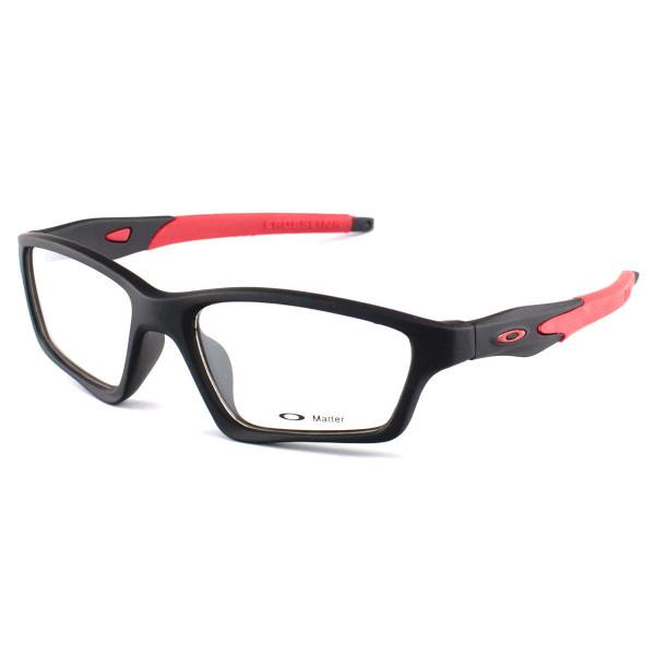 Armacao de Óculos Oakley Crosslink OX8031 Preta e Vermelho