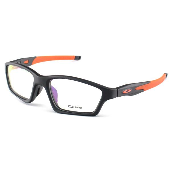 Armacao de Óculos Oakley Crosslink OX8031 Preta e Laranja