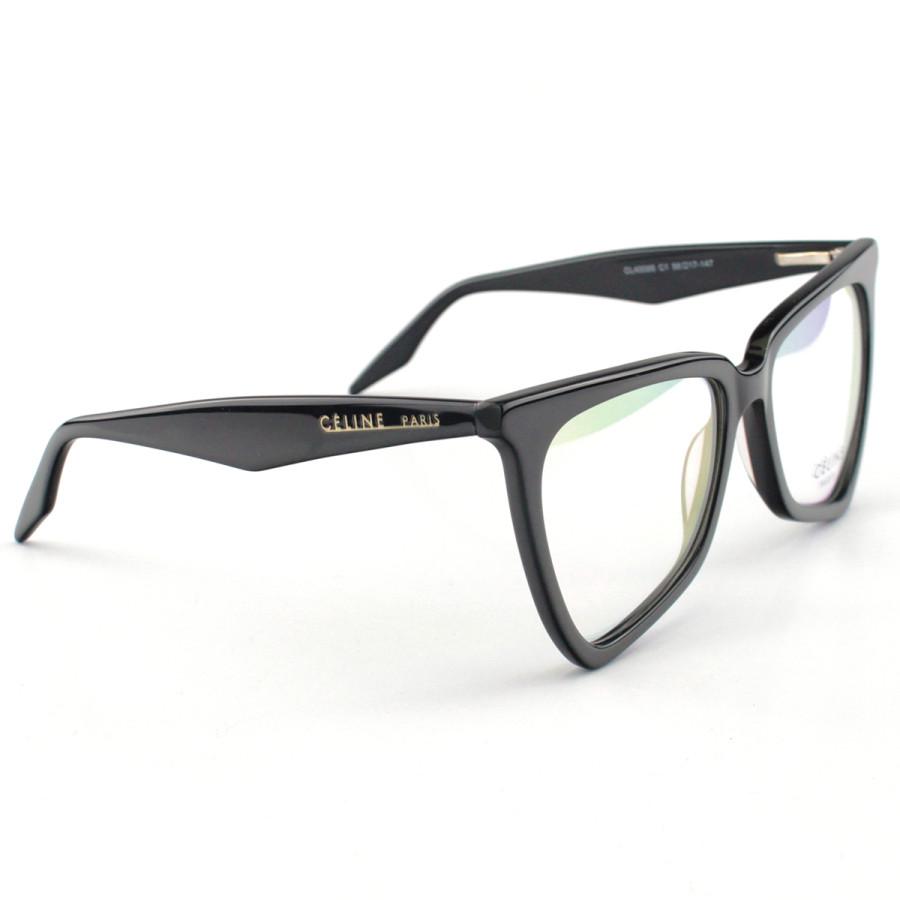Armacao de Óculos Céline CL 40088 Moderna Preta