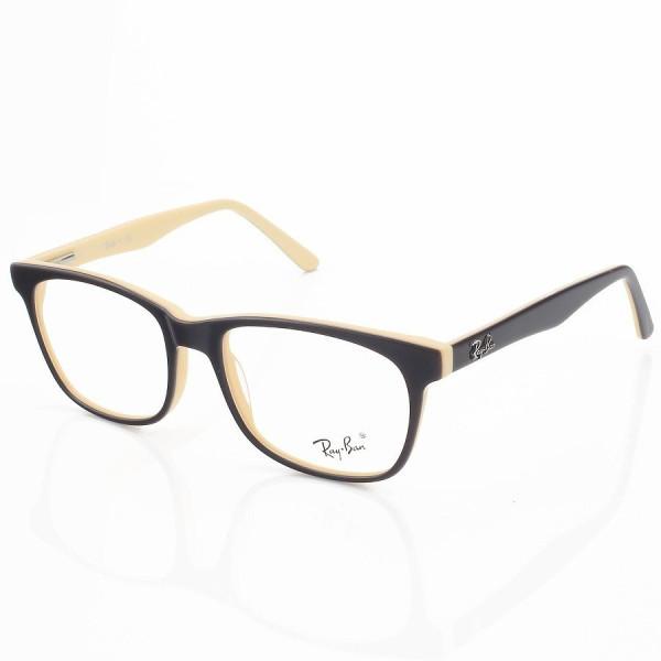 Armação de Óculos Retangular Ray-Ban RB8123 Preta e Vermelha