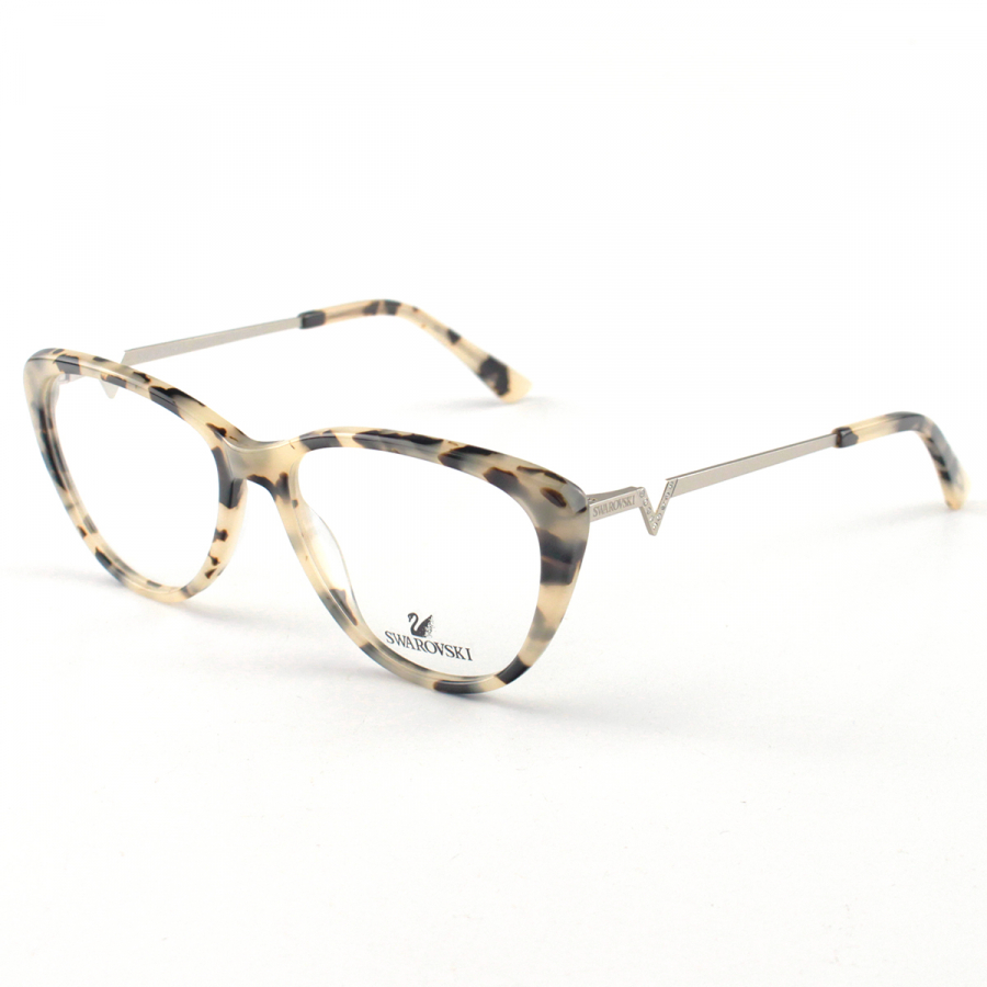 Oculos Armação de Grau Swarovski SK5232 Tartaruga Creme