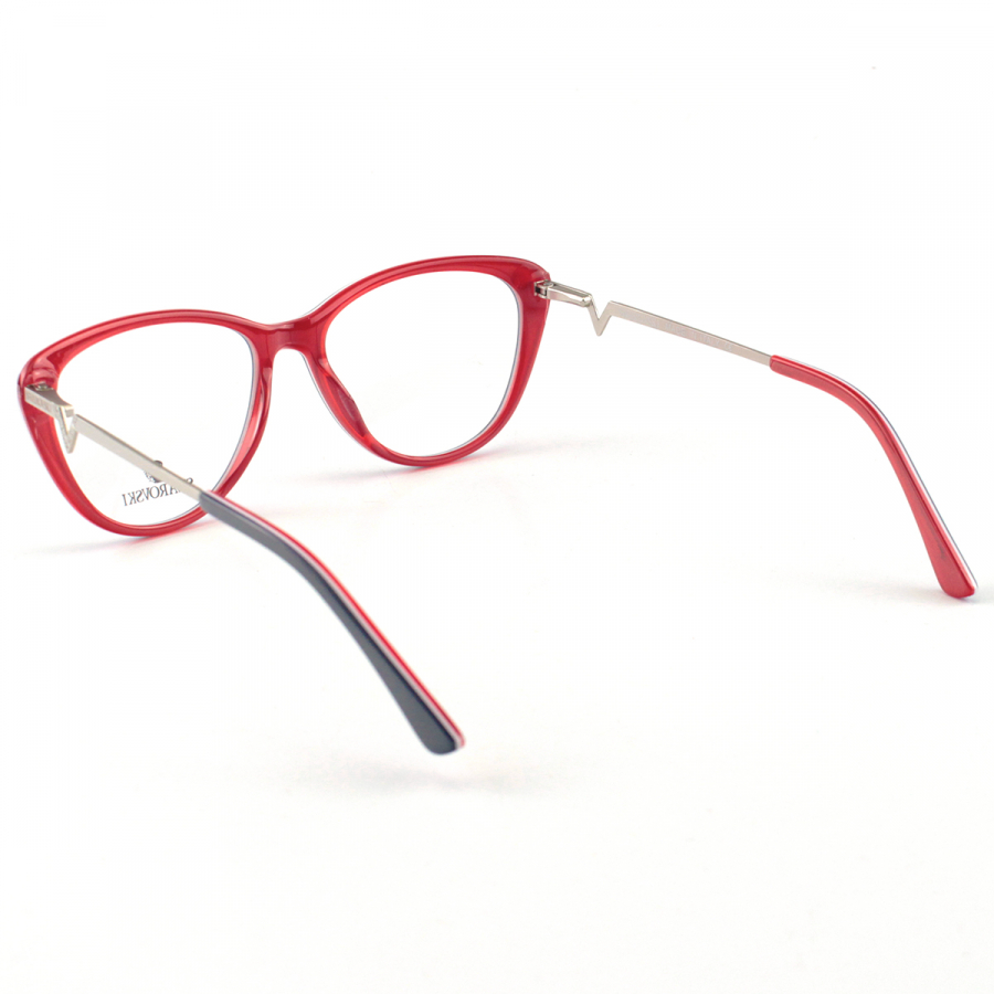 Oculos Armação de Grau Swarovski SK5232 Azul e Vermelho