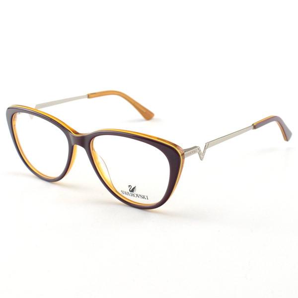 Oculos Armação de Grau Swarovski SK5232 Bordo Orange