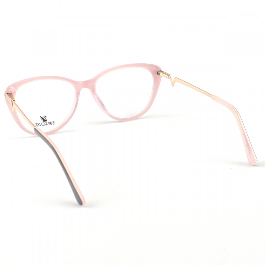 Oculos Armação de Grau Swarovski SK5232 Preto e Rosa