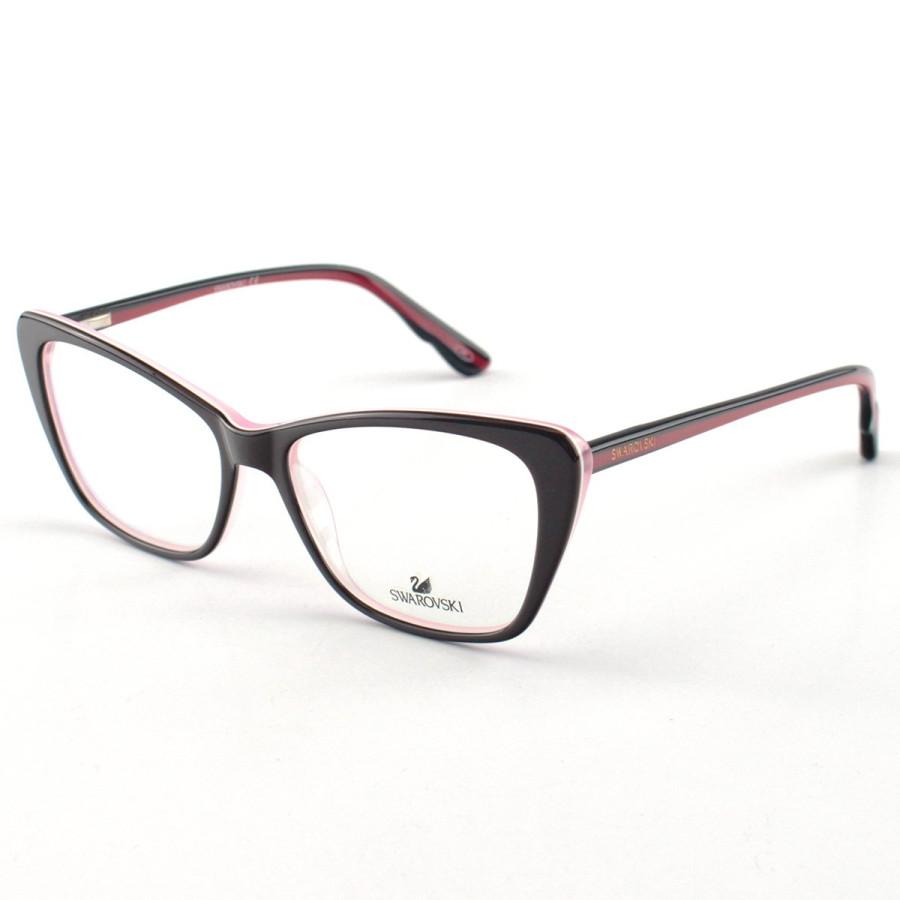 Oculos Armação de Grau Swarovski SK5173 Preto e Rosa