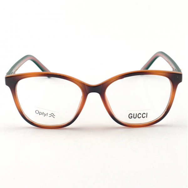 Armacao de Óculos Quadrado Gucci GG0402 Tartaruga Classico
