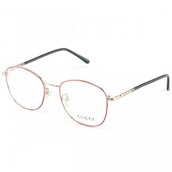 Armação de Óculos Hexagonal Gucci GG1821 Vermelho e Preto
