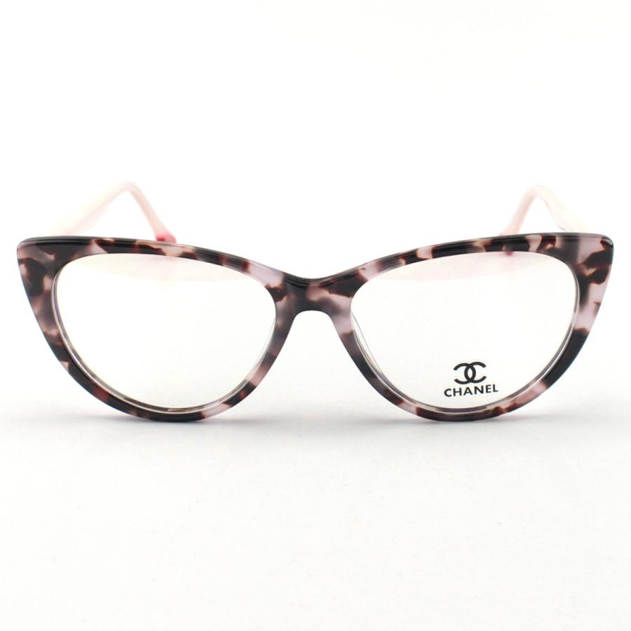 Armacao de Óculos Gatinho Chanel CH80512 Sapatinho Rosa Mesclado
