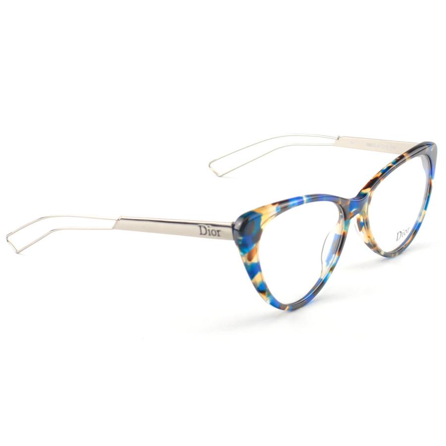 Armação de Grau - Dior Gatinho  CD 80633 - Azul Tartaruga