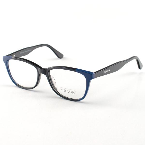 Armacao de Óculos Prada PR 04UV Acetato Preta e Azul