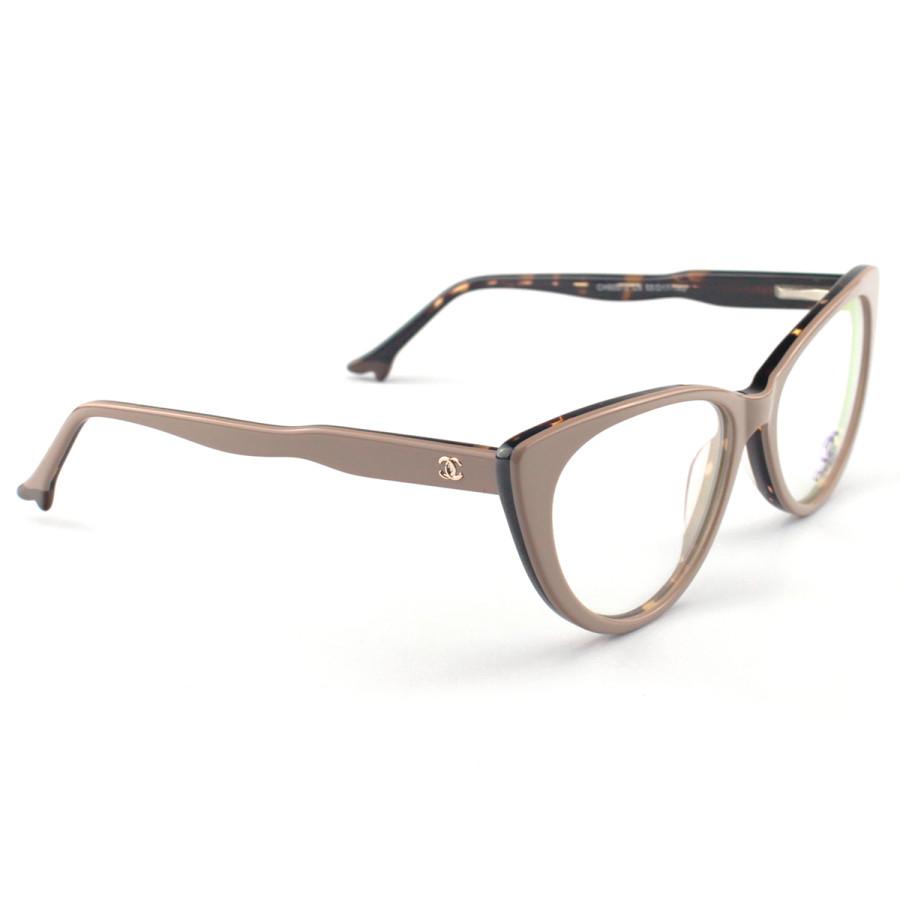 Armacao de Óculos Gatinho Chanel CH80512 Sapatinho Nude