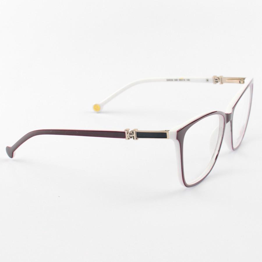 Armacao de Óculos Feminina Carolina Herrera CH639 Bordo e Branca